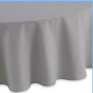 kate spade larabee dot grey tablecloth 70 round